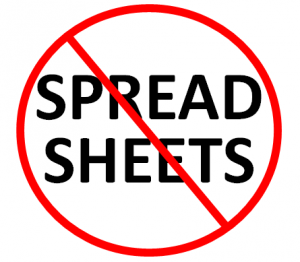 No Spreadsheets
