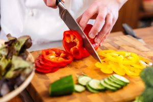 Chef Chopping Peppers